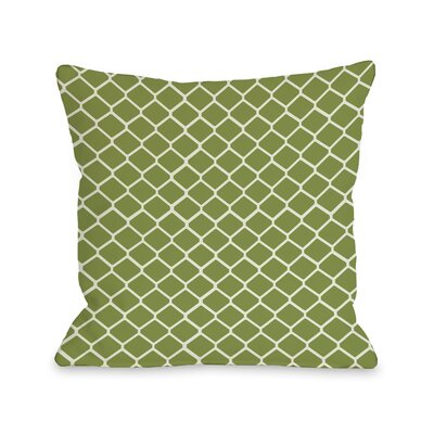 Fence Throw Pillow Size: 16 H x 16 W, Color: Green Ivory