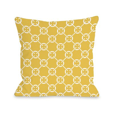Ceciles Circles Throw Pillow Size: 18 H x 18 W, Color: Solar Power