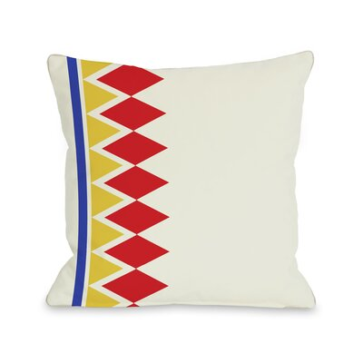 Asymmetrical Diamonds Throw Pillow Color: Red