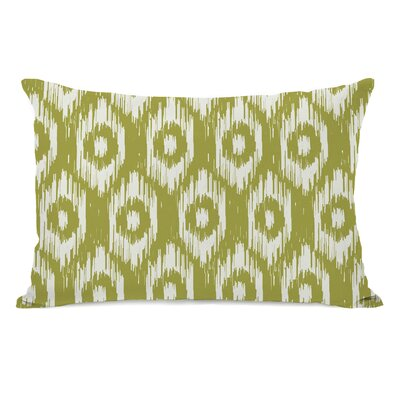 Kelly Ikat Lumbar Pillow Color: Oasis Green Ivory