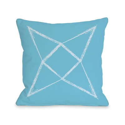 Written in The Star Throw Pillow Color: Aqua