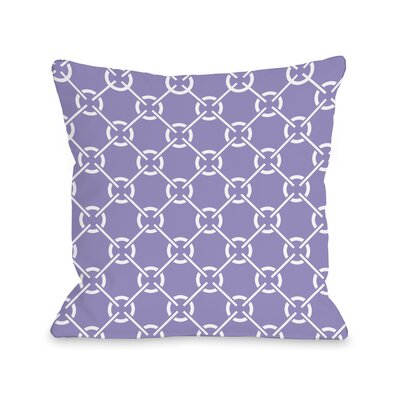 Ceciles Circles Throw Pillow Size: 16 H x 16 W, Color: Violet Tulip