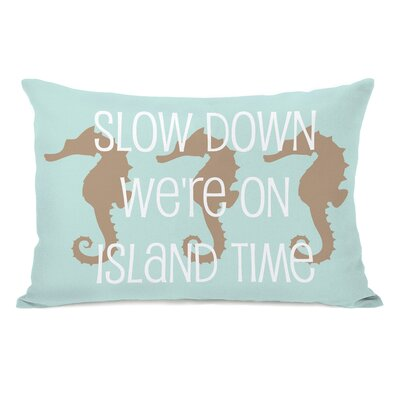 Slow Down on Island Time Fleece Lumbar Pillow