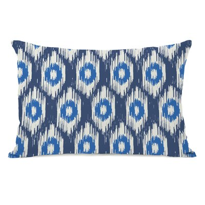 Kelly Ikat Lumbar Pillow Color: Blue Multi