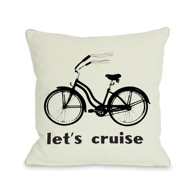 Lets Cruise Throw Pillow Size: 26 H x 26 W