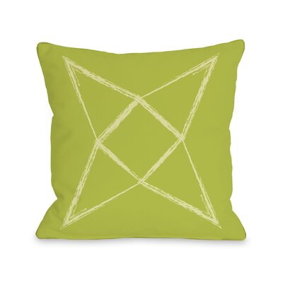Written in The Star Throw Pillow Color: Lime