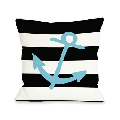 Striped Throw Pillow Size: 18 H x 18 W, Color: Neon Blue