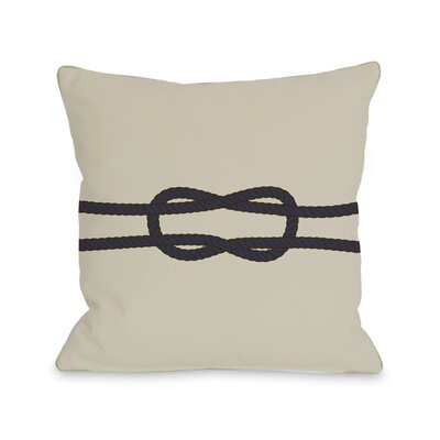 Square Knot Throw Pillow Size: 18 H x 18 W