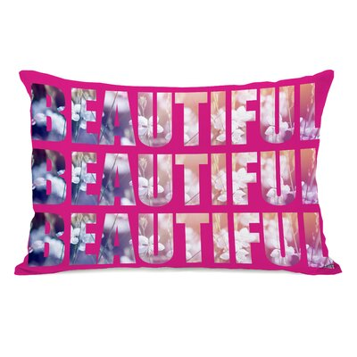 Beautiful Flowers Lumbar Pillow Color: Pink Multi
