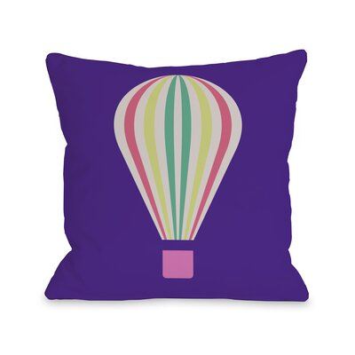 Hot Air Balloon Throw Pillow Size: 16 H x 16 W, Color: Life