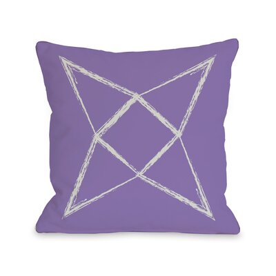 Written in The Star Throw Pillow Color: Purple