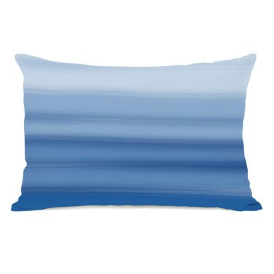 Ombre Watercolors Lumbar Pillow Color: Blue