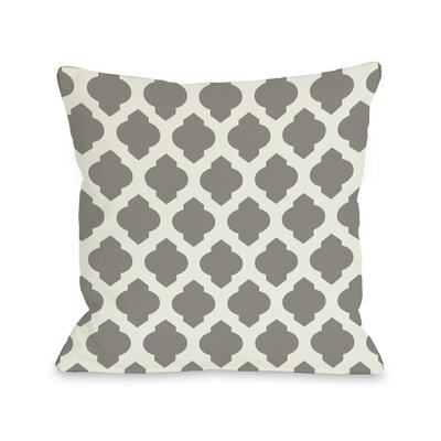 Flannigan Throw Pillow Size: 16 H x 16 W, Color: Navy Ivory