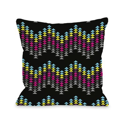 Ziggy Triangle Throw Pillow Size: 26 H x 26 W