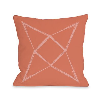 Written in The Star Throw Pillow Color: Salmon