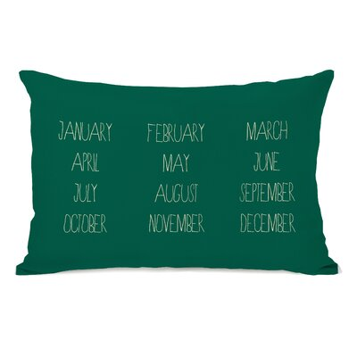 Months Lumbar Pillow Color: Green