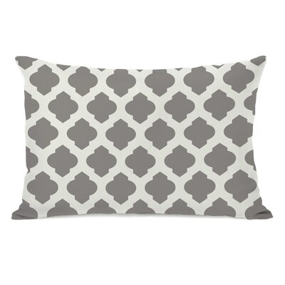 All Over Moroccan Lumbar Pillow Color: Gray