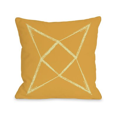 Written in The Star Throw Pillow Color: Yellow Orange