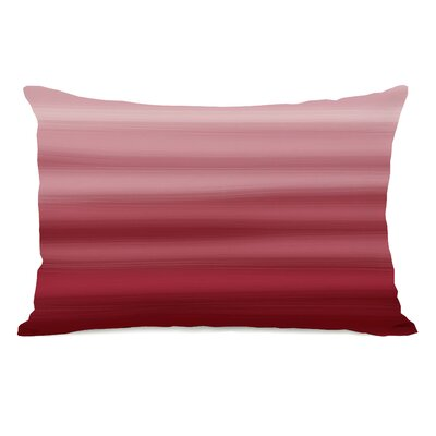 Ombre Watercolors Lumbar Pillow Color: Dark Red