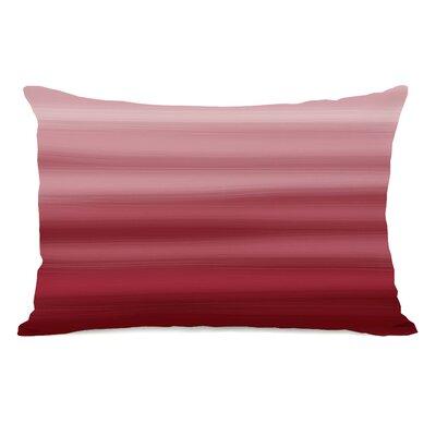 Degen Ombre Watercolors Lumbar Pillow Color: Dark Red