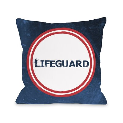 Lifeguard Throw Pillow Size: 18 H x 18 W
