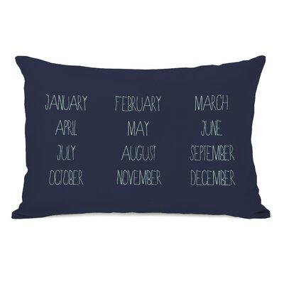 Months Lumbar Pillow Color: Navy