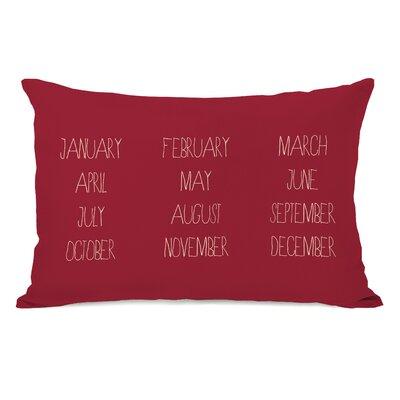 Months Lumbar Pillow Color: Red