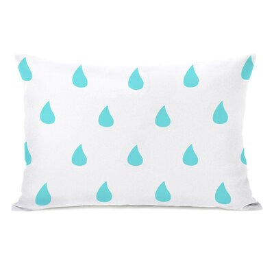 All Over Raindrops Lumbar Pillow