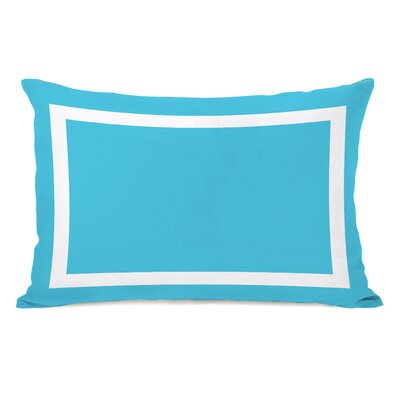Biller Outdoor Lumbar Pillow Color: Aqua White