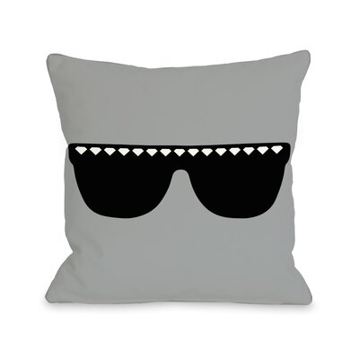 Diamond Sunglasses Throw Pillow Size: 18 H x 18 W