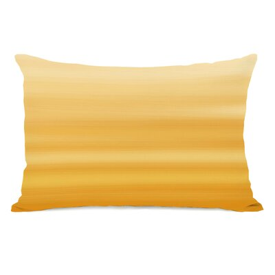 Degen Ombre Watercolors Lumbar Pillow Color: Mimosa