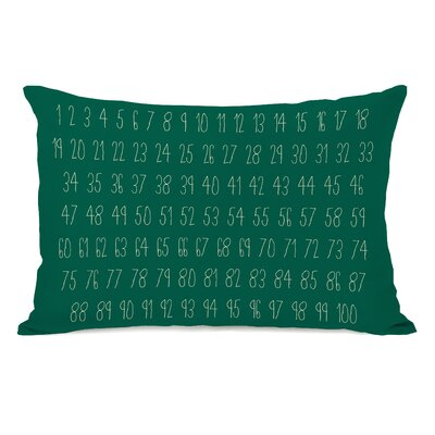 Numbers Lumbar Pillow Color: Green