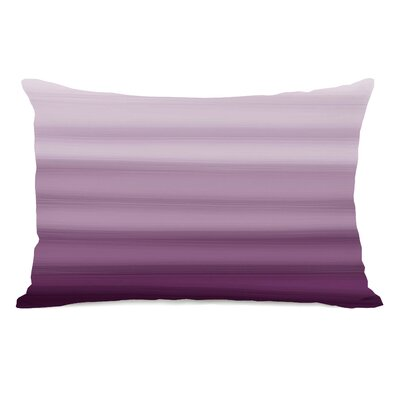 Ombre Watercolors Lumbar Pillow Color: Purple