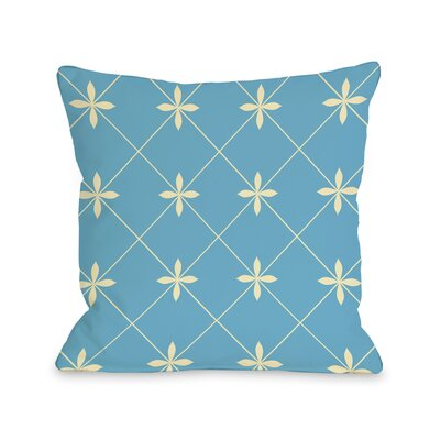 Crisscross Flowers Throw Pillow Size: 20 H x 20 W, Color: Light Blue