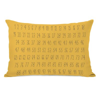 Numbers Lumbar Pillow Color: Yellow