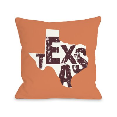 Texas State Throw Pillow