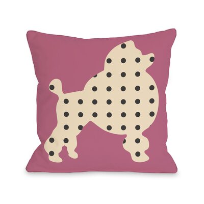 Poodle Throw Pillow Size: 16 H x 16 W