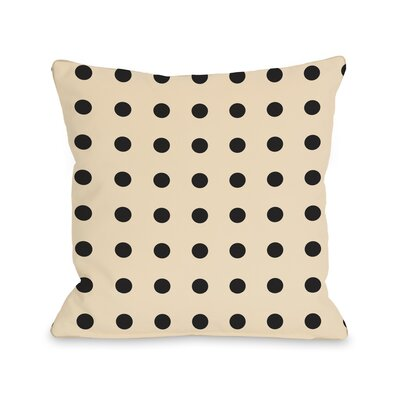 Penny Polka Dots Throw Pillow