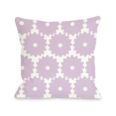 Gia Flower Print Throw Pillow Size: 18 H x 18 W, Color: Lilac