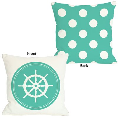 Polka Dot Wheel Throw Pillow Size: 26 H x 26 W