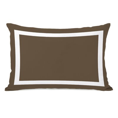 Biller Outdoor Lumbar Pillow Color: Coffee Brown White