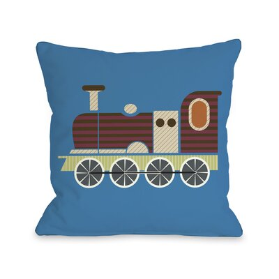 Charlie Train Throw Pillow Size: 16 H x 16 W