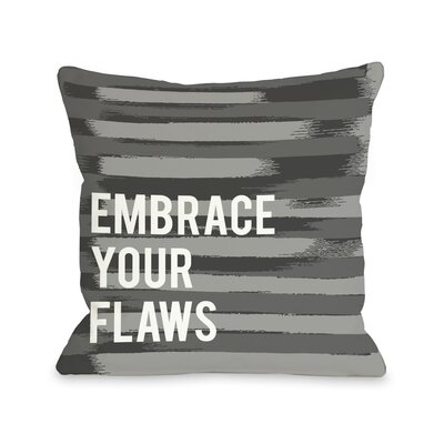 Embrace Your Flaws Stripe Throw Pillow