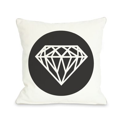 Diamond Circle Throw Pillow