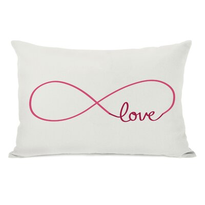 Infinite Love Lumbar Pillow Color: Ivory Red