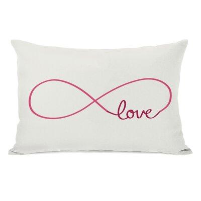 Infinite Love Lumbar Pillow Color: Ivory Red