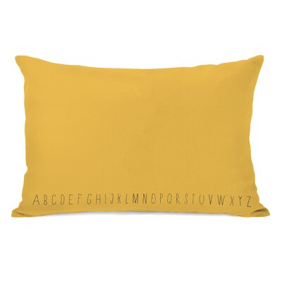 Written Alphabet Lumbar Pillow Color: Yellow