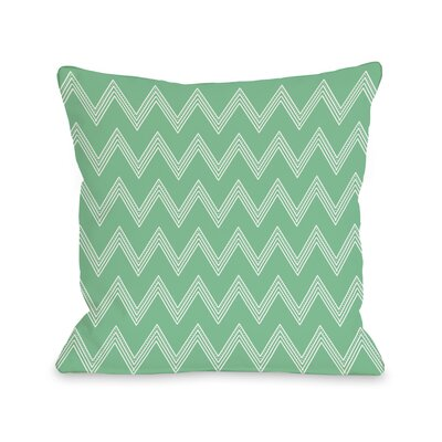 Emily Tier Chevron Throw Pillow Color: Green