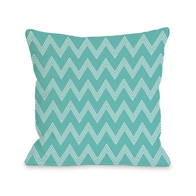 Emily Tier Chevron Throw Pillow Color: Turquoise