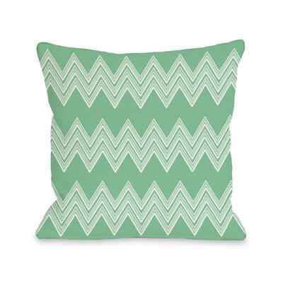 Juniper Multi Chevron Throw Pillow Color: Green